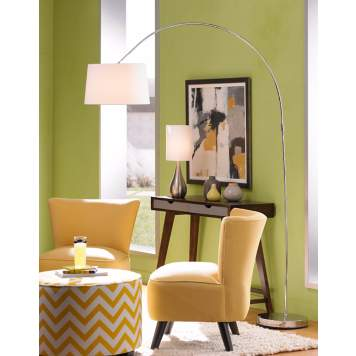 Arc floor lamps offer modern lighting style with flair.