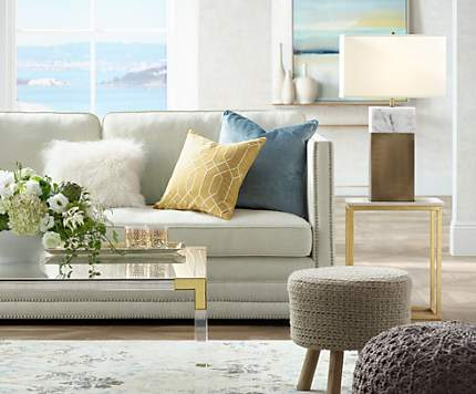 Use Pouf Ottomans To Add Texture And Alternate Seating A Living Room