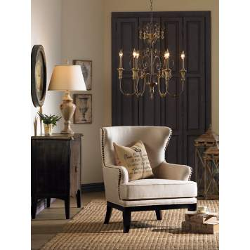 Get the French Market look with a feminine, traditional chandelier.