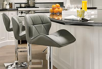 Altitude adjustment - adjustable barstools are made to fit any space.