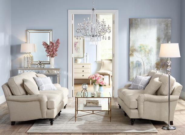 A classic living room idea - iconic sofas and comfortable seating.