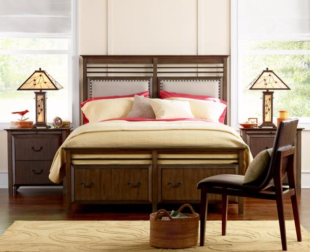 modern bungalow bedroom and furnishings