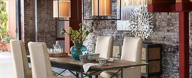 dining room transitional lighting and decor ideas shop by room at lamps plus. Black Bedroom Furniture Sets. Home Design Ideas