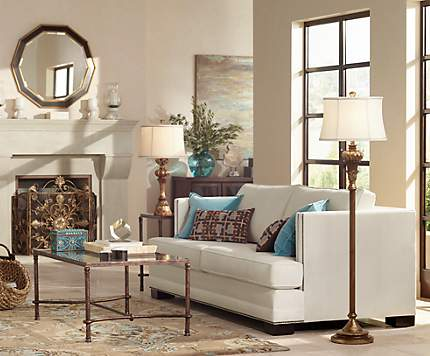 Trend Idea Stylish Gold Finishes Lend A Living Room An Elegant Glow