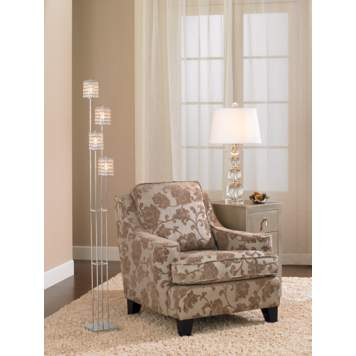 Create a cozy and well-lit space with this living room lamp design idea.