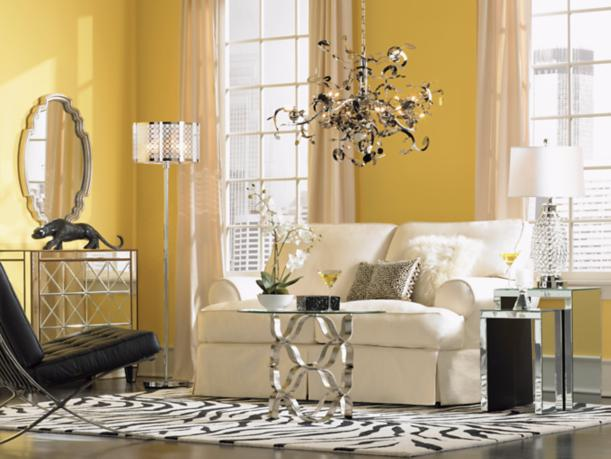 Contemporary Glam Living Room: Contemporary Glamour Makes A Statement In This City Chic