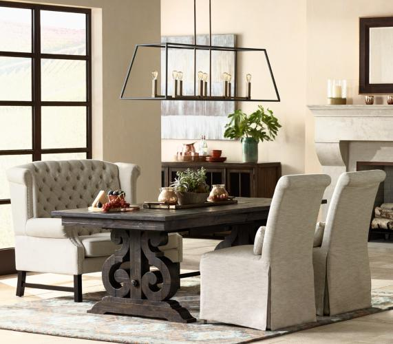 An alternative to formal dining seating a tall back for Alternative ideas for formal dining room