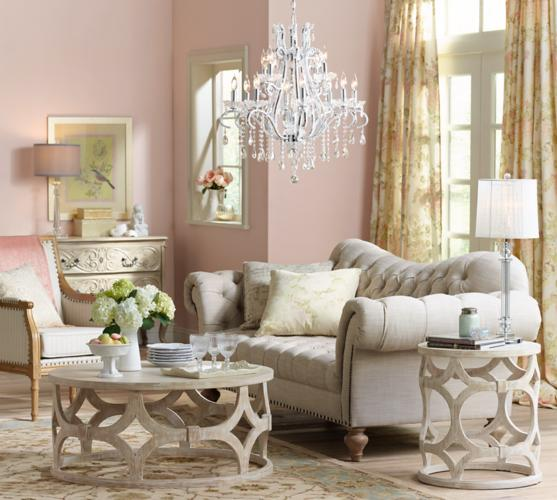 Make A Glittering Crystal Chandelier The Centerpiece Of Any Living Room