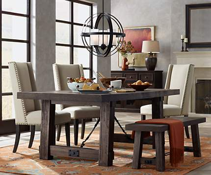 The Morris Open Orb Chandelier Brightens A Wine Counry Dining Room