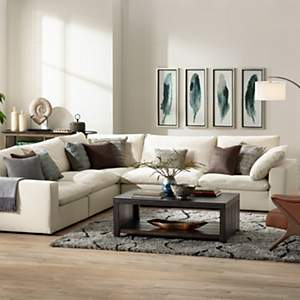 modern living room lamps. Comfy sectional seating paired with a large arc floor lamp  Living Room Design Ideas Inspiration Lamps Plus