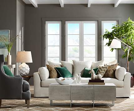 A Chateau Sofa In Linen Anchors This Casual Stylish Living Room