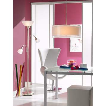 A modern home office decorating idea with a feminine touch.