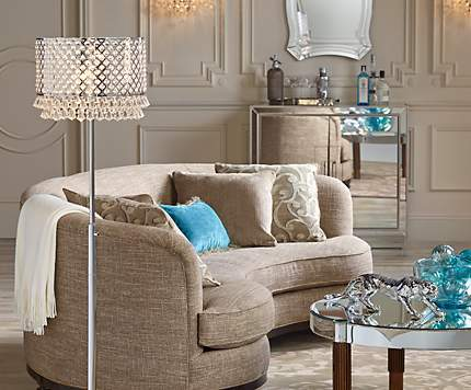A living room with star power and plenty of sparkle.