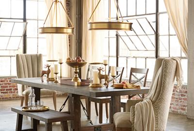 A duo of pendant lighting is twice as nice.