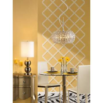 Sunny yellow and zebra print creates a cheerful contemporary dining room.
