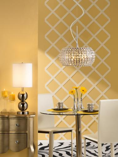 A contemporary yellow dining room design idea.