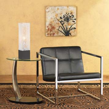 A mid-century style chair has chic contemporary design appeal.