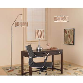 Add a mod touch to your office with graphic retro print lamps!
