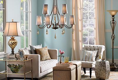 A little luxe goes a long way in this traditional living room.
