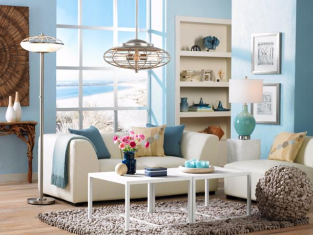 coastal contemporary living room decor