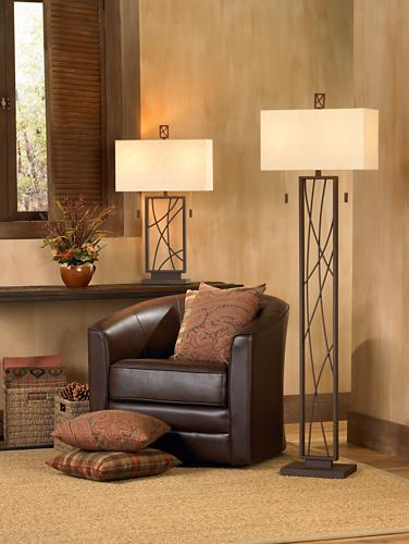 Rustic lodge lamp design picture.