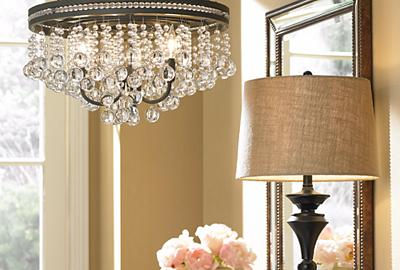 An opulent chandelier adds a glamorous and elegant touch to any space.