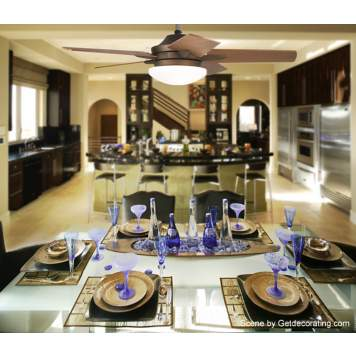 This open concept kitchen and dining room is elegant and contemporary.