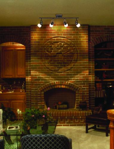Use Track Kit Lighting To Brighten Your Fireplace Room