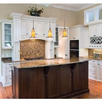 This transitional kitchen is a modern mix of classic and contemporary style.