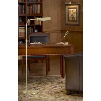 Use a floor lamp with a dimmer in your home office.