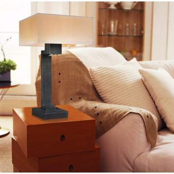Position a table lamp next to a reading chair to avoid eyestrain.