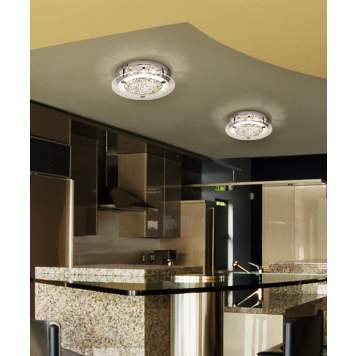 Add sparkle to your kitchen with crystal light fixtures.