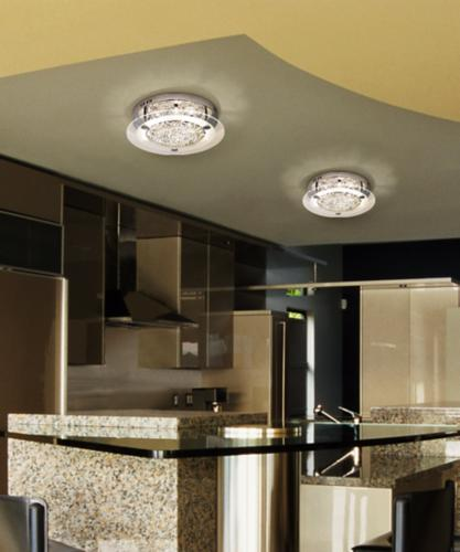 Kitchen crystal light fixture photo.
