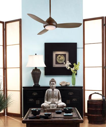 minka aire ceiling fan, concept 1, dining room, japanese
