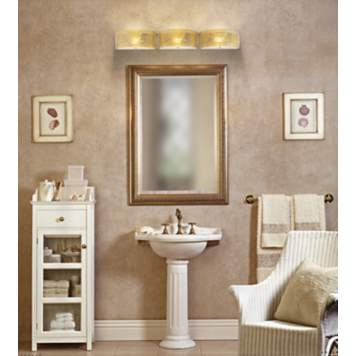 Neutral sandy colors create a relaxing coastal bathroom design.