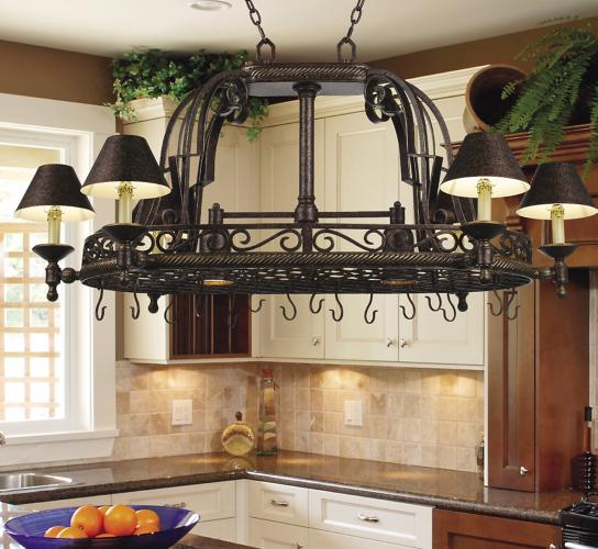 Pot Rack Kitchen Chandelier Picture