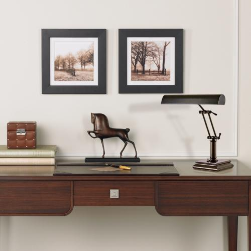 A home office room scene with accessories that offer function and style.