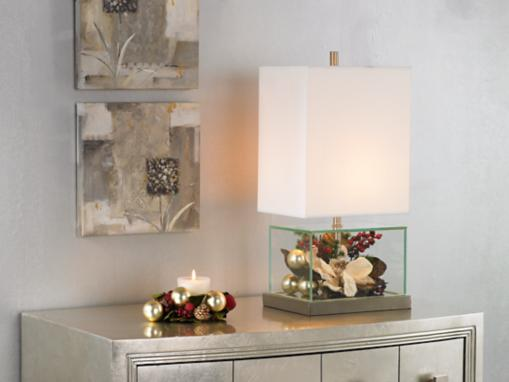 Holiday Fillable Glass Lamp