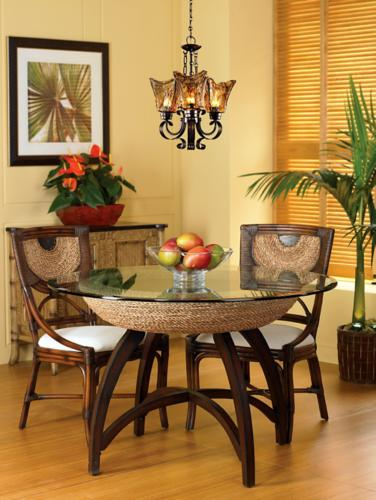 coastal dining room, mini chandelier, uttermost