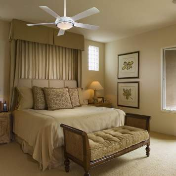 Transitional bedroom decor is a seamless mix of styles.