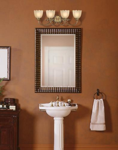 Start With A Pedastel Sink To End Up With A Traditional Style Bathroom Lighting Decor By