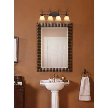 Bronze finish bathroom fixtures are rich and elegant.