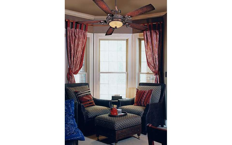 minka aire, napoli ceiling fan, small family room