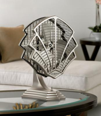 Fitzgerald Satin Nickel Desk Fan by Fanimation