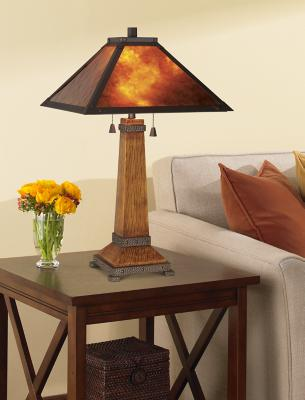 Faux Bois Mission Table Lamp