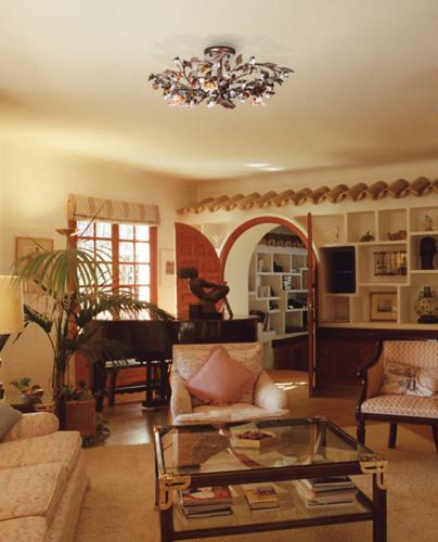 living room, hand-blown glass, ceiling fixtures, fixture