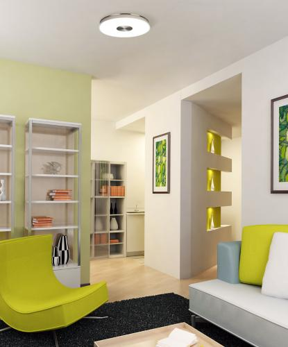 modern living room, energy star, ceiling light