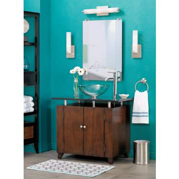 A bathroom is a fabulous room to be bold with color!