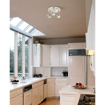 Adjustable ceiling lights are perfectly suited for kitchen lighting.