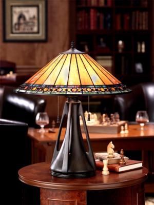 Arts and Crafts Mission Table Lamp Photo